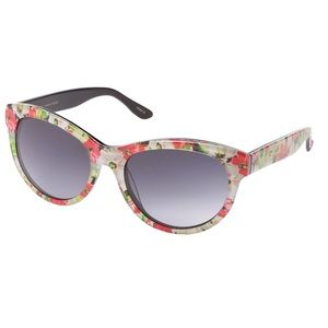 Betsey Johnson Floral Acetate Cat-Eye Sunglasses